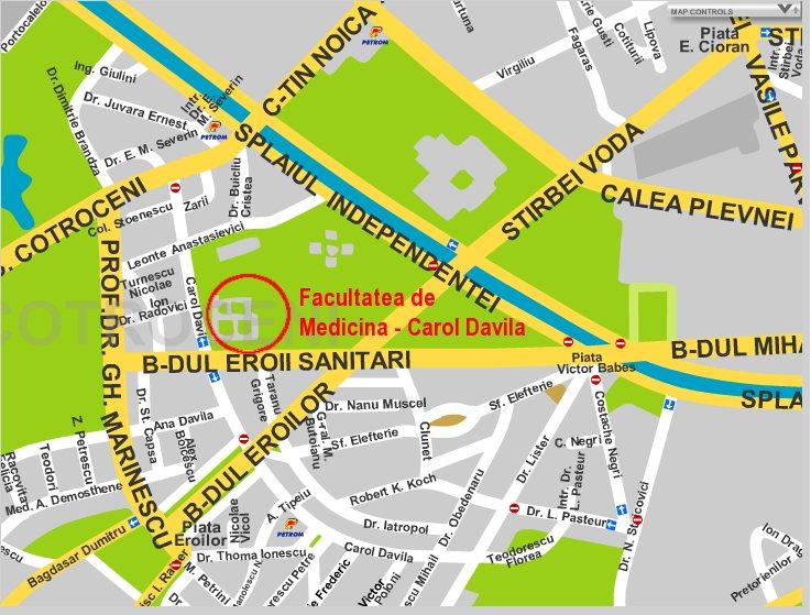 Harta Strazi Zona Cotroceni